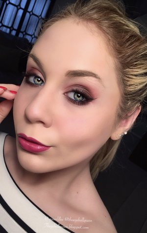 This is just a full faced photo from my previous eye look!  As you can see, with or without lashes the look is beautiful and perfect for the holidays!   http://theyeballqueen.blogspot.com/2015/12/cranberry-holiday-makeup-tutorial.html