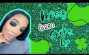 My First Talk thru Mossy Green Smokey Eye | Colourpop Just my Luck Palette | @leiydbeauty