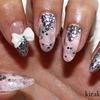 Baby Pink & Silver Nails