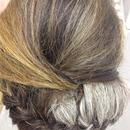 braid backcomb updo