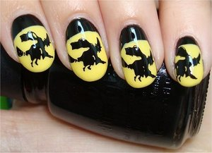 Witch Nails Nail tutorial & more photos here: http://www.swatchandlearn.com/nail-art-tutorial-witch-nails/