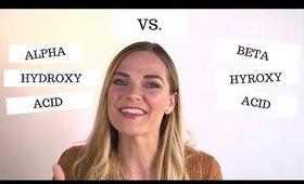 Acids 101 With An Aesthetician || AHA vs. BHA