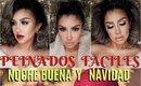 PEINADOS SENCILLOS Y FACILES PARA FIESTA / Holiday hairstyle tutorial   auroramakeup