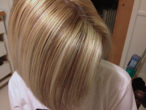 Hair Color highlights and Lowlights by Christy Farabaugh