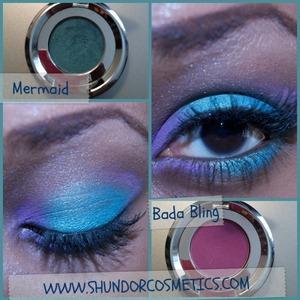 Shundor Shadow in Bada Bling & Mermaid.  www.shundorcosmetics.com