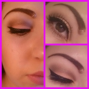 Peach & brown cut crease This was inspired by another girl here on beautylish.. Mine does not look as good as hers & my first try at a cut crease.
