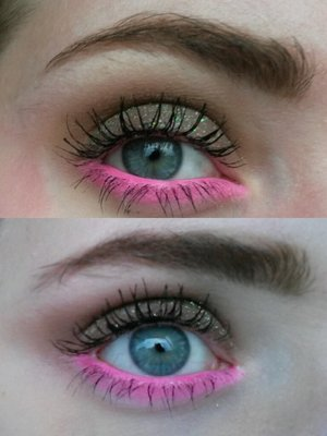 Inspired by Ashley L. : http://www.beautylish.com/f/rmicgcq/brown-glitter-pink-smoke