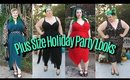 Plus-Size Fashion Try On Haul Holiday Party Lookbook | Vlogmas Day 1