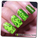 Peridot-Vines Inspired Nail Art