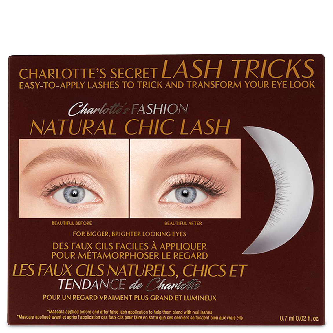 Charlotte Tilbury Charlotte's Secret Lash Tricks Fashion Natural Chic Lash