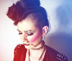 My interpretation of 80s punk makeup xo