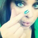 Matching nails and eyes !