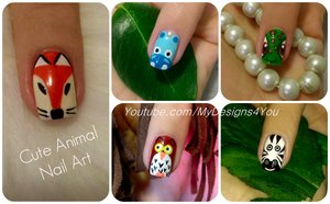Cute Animal Nail Art Vol.2 #mydesigns4you #nailart #nails #animalnails