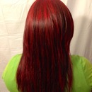 red hair I colored today :)