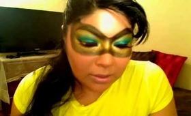 Mardi Gras Mask Make Up Tutorial