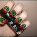 Rasta Crackle Nails