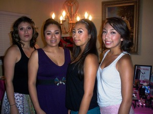 My sister, Me with out cousins Jasmine and Sara!