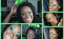 St.Patricks Day Glittery Makeup!