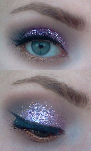 "The glitter is NYX's glitter on the go in ""Jelly"""