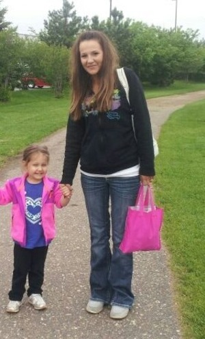 My baby girl and I at the ball park for her brothers baseball game - she is so adorable and funny <3