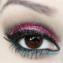 Glitter Pink Makeup