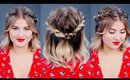 Hairstyle Of The Day: EASY Half Up Twisted Tutorial | Milabu