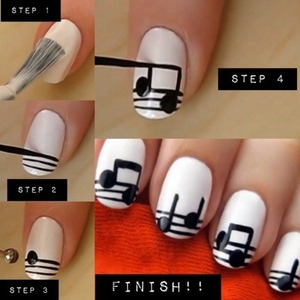 Step by step Musical note creation