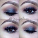 Sparkly black smokey eye