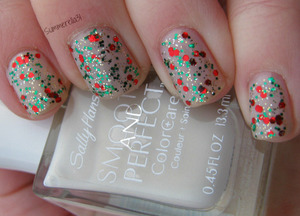 Sally Hansen Smooth and Perfect Fog and Salon Perfect Glam Glitter