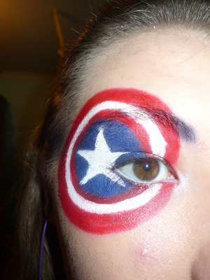 Part of my mini Marvel Heroes inspired look - Captain America