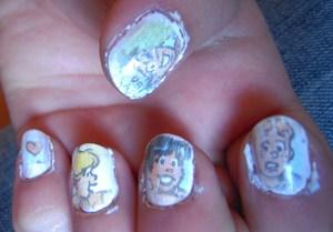 Archie nails :D A fun design
