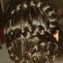 french braid with a twist :)
