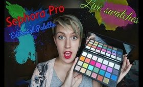 Sephora Pro Editorial Palette -quick live swatches