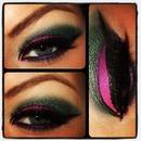 Purple, Pink with Smokey Green