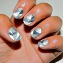 50 Shades of Grey Inspired Mani