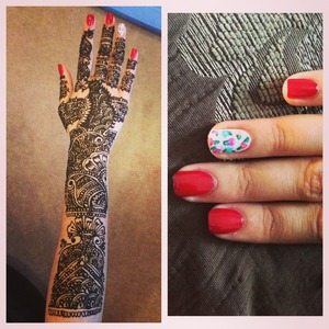 Henna and floral nail art all done by me!