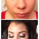 Recreation of Jess Wright Rose Gold makeup