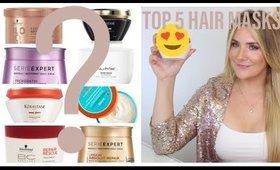 BEST Hair Masks of 2019 !  Ranking my TOP 5 Hair Masks