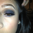 Blue Smokey Look