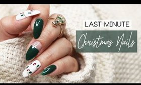 Last Minute Christmas Nails | 2018 🎄🎅🏼