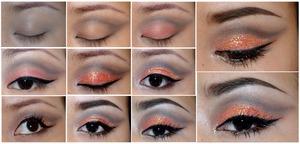 Using: MAKE UP STORE glitter-venus, Sleek MakeUP - sunset palette, Inglot Cosmetics gel eyeliner - 77, Illamasqua precision ink - Abyss, Illamasqua Beak Street medium pencil- sorceress