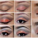 Amber glittery eye
