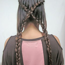 X Braid for long hair