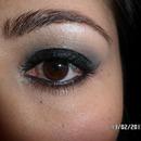 Black glitter smokey