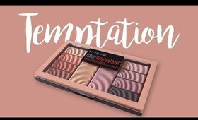 Maybelline Total Temptation™ Eyeshadow + Highlight Palette Swatches  &Tutorial