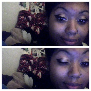 my makeup from last night. it reminds me of wolverine's mask, or silk spectre's outfit!