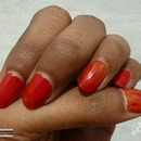 Tutorial - Nail Art - Fire effect using paint brush .. Very easy - BangaloreBengaluru