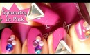 Symmetry in Pink 3D Nails