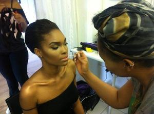 Completing a Natural Beauty Look in Glamorous form :)