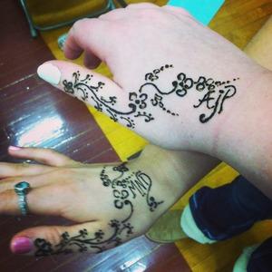 Me & my best friends henna tattoo<3